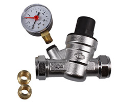 15 & 22mm Pressure Reducing Valve c/w Gauge