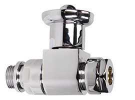 Contemporary Chrome Straight Wheel Head Valve